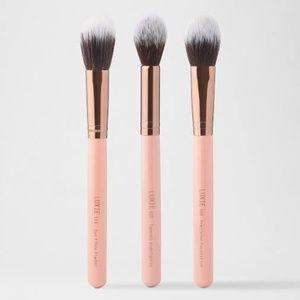 LUXIE Rose Gold Brush Trio - Classic Face Set